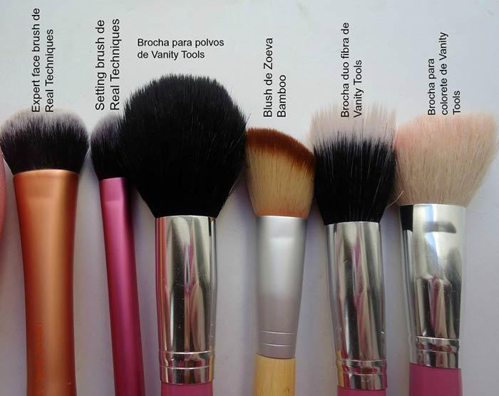 brochas favoritas para maquillaje