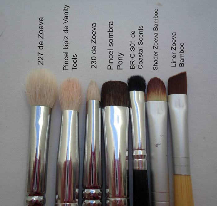 pinceles favoritos para maquillaje
