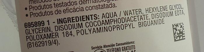 ingredientes agua micelar garnier