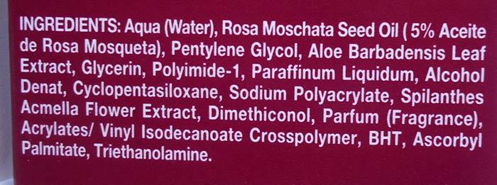 ingredientes contorno ojos babaria