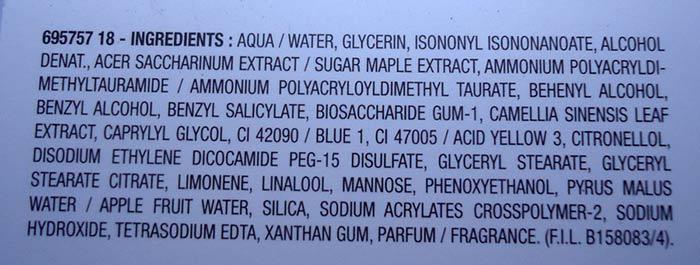 ingredientes hydra adapt garnier