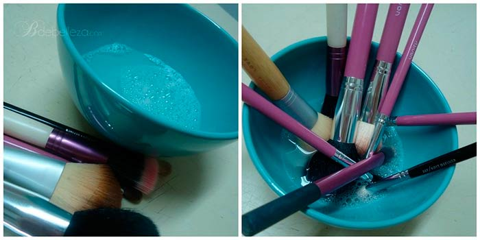 cómo limpiar brochas y pinceles