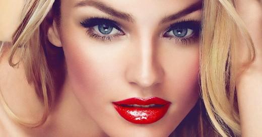 labios rojos mujer