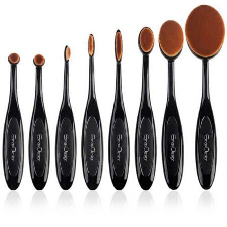 Brushes set oval