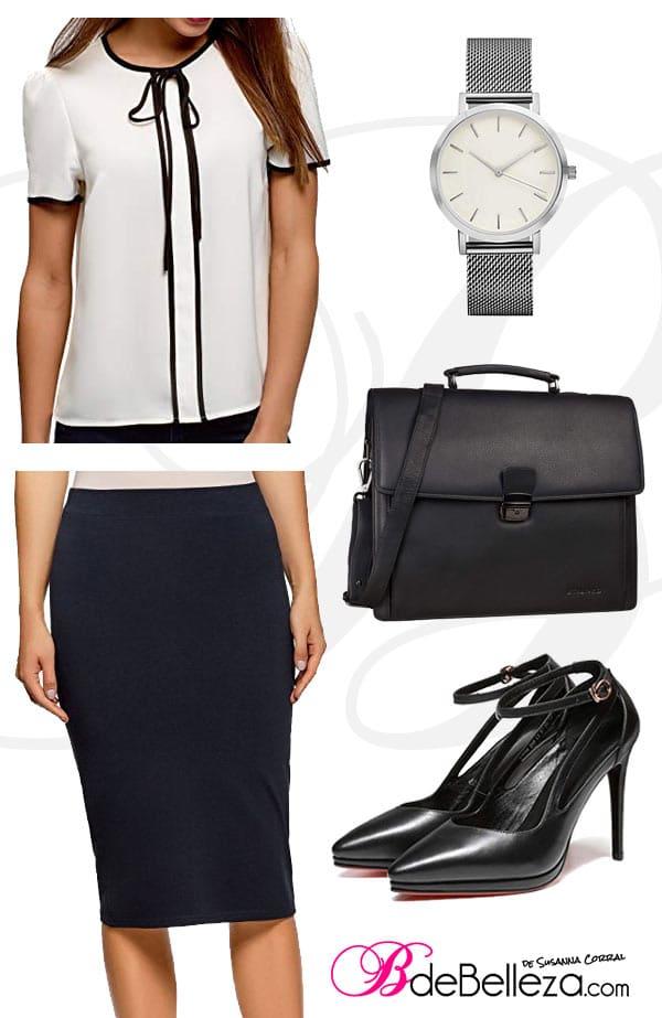 vestir entrevista trabajo falda lapiz