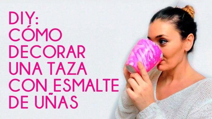 DIY: Decorar Tazas con Esmalte de Uñas