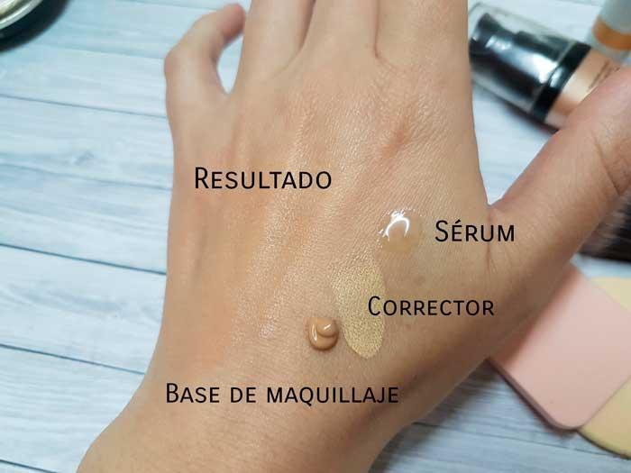 serum corrector base de maquillaje
