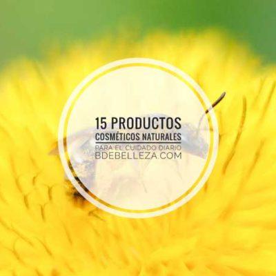 15 Productos cosméticos naturales para el cuidado diario