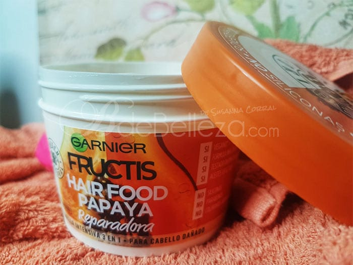mascarilla hair food papaya