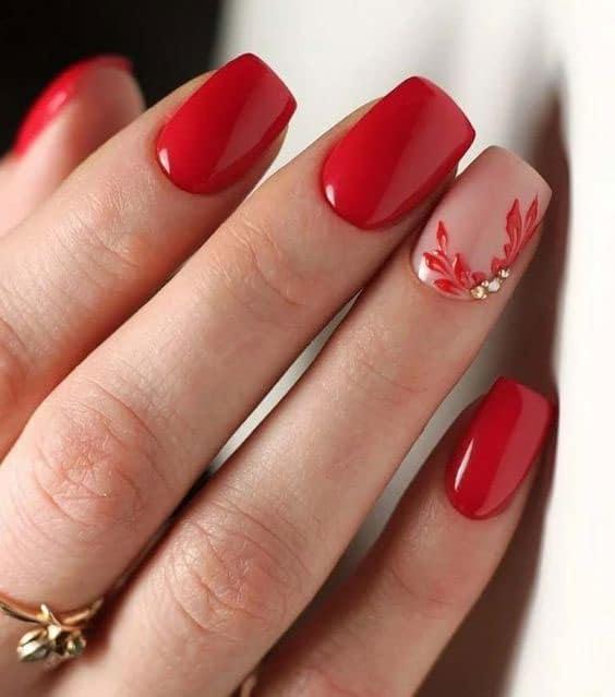 uñas rojas permanentes