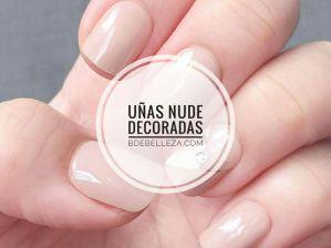 decoración de uñas nude