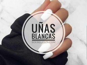 decoracion de uñas blancas