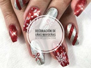 ideas decoración uñas navideñas