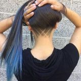 corte pelo rapado nuca mujer
