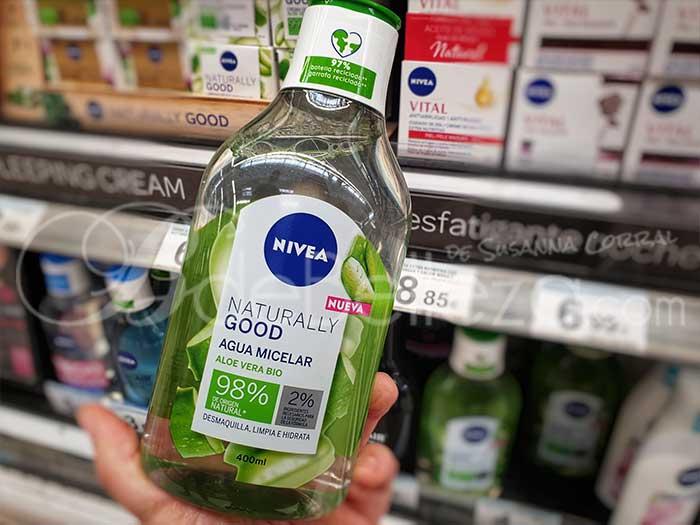 agua micelar nivea naturally good