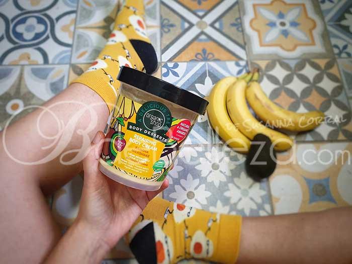 crema corporal batido de plátano