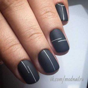 decoracion uñas con rayas