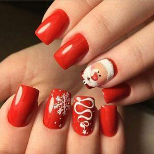 decoracion uñas navidad