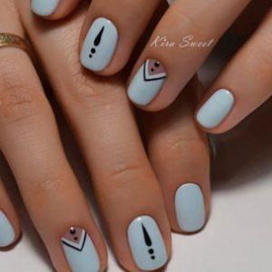 decoracion uñas azul claro