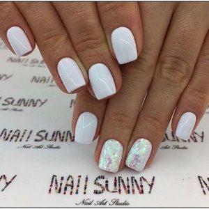 decoracion uñas blancas