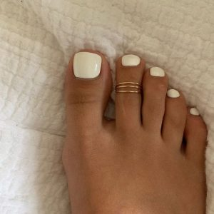 pedicura color blanco