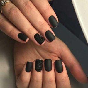 decoracion de uñas negras
