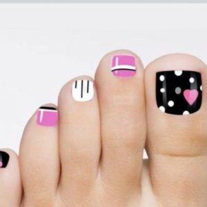 decoración de uñas para pies 1