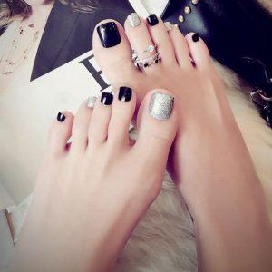 decoración de uñas fáciles para pies