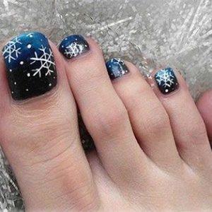 Uñas de los pies navideñas 3