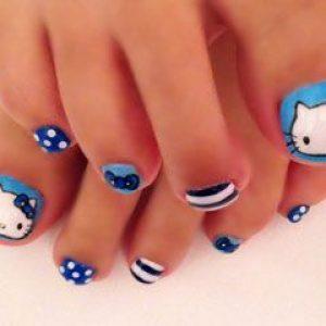 uñas pies hello kitty 3