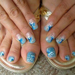combinar uñas de pies y manos 6