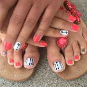 combinar uñas de pies y manos 5