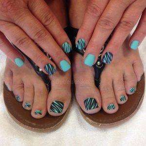 combinar uñas de pies y manos 7