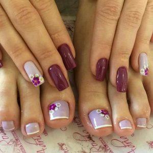 combinar uñas de pies y manos 2