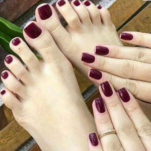 combinar uñas de pies y manos 13