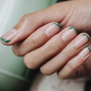 manicura francesa uñas cortas 2