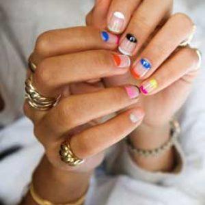 manicura francesa uñas cortas colores