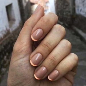 manicura francesa uñas cortas 5