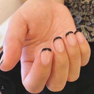 manicura francesa uñas cortas 6