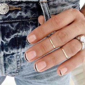 manicura francesa uñas cortas 7