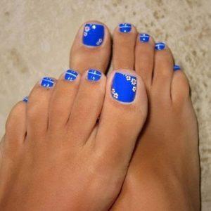 pedicura azul electrico