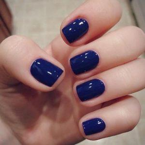 uñas azules decoradas