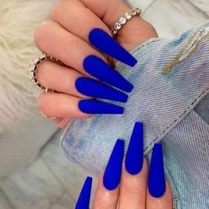 uñas acrilicas azul