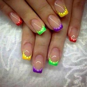 uñas francesas colores