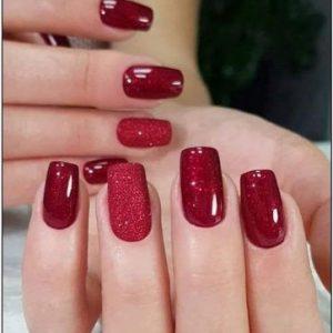 decoracion uñas purpurina