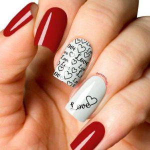 decoracion uñas san valentin